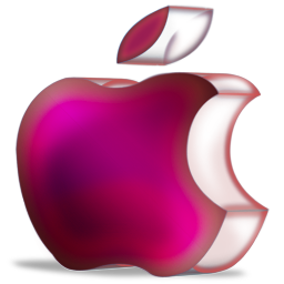 apple purple 3D
