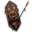 Cult of Kong Shield Spear
