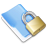 lock folder blue