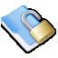 unlock folder blue