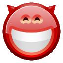 face devil grin