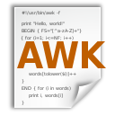 application x awk