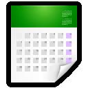 text calendar