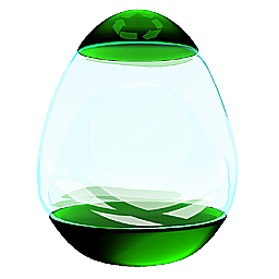Glass Egg Recycle Bin M