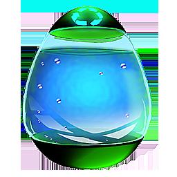 Glass Egg Recycle Bin F