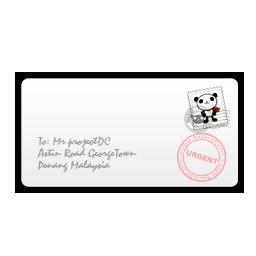 envelope A front