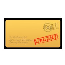 envelope A urgent