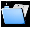 folder blue open