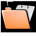 folder orange open