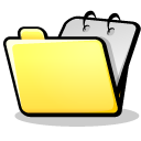 folder yellow open