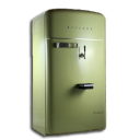 vintage fridge green